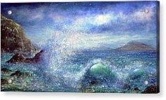 Over The Waves Acrylic Print by Ann Marie Bone