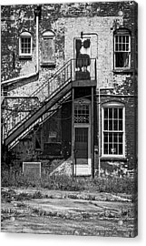 Over Under The Stairs - Bw Acrylic Print by Christopher Holmes
