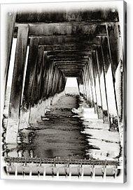 Over Under-tybee Island Acrylic Print by Ann Tracy