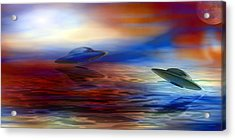 Over Water Acrylic Print by Evelyn Patrick