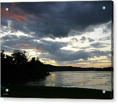 Acrylic Print featuring the photograph Overcast Morning Along The River by Skyler Tipton