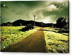 Overcast Storm Road Acrylic Print