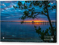 Acrylic Print featuring the photograph Overcast Sunrise by Tom Claud