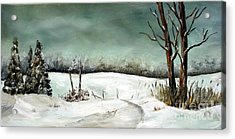 Overcast Winter Day Acrylic Print