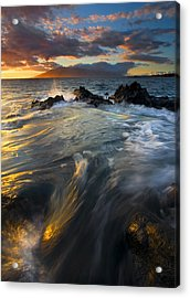 Overflow Acrylic Print by Mike  Dawson