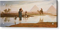 Overflow Of The Nile Acrylic Print by Frederick Goodall