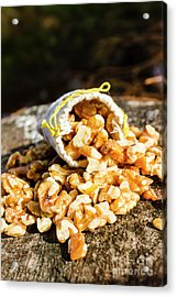 Overflowing Sack Of Fresh Walnuts Acrylic Print by Jorgo Photography - Wall Art Gallery