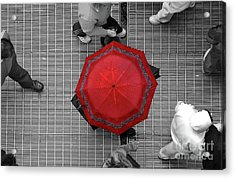 Overhead Red Acrylic Print