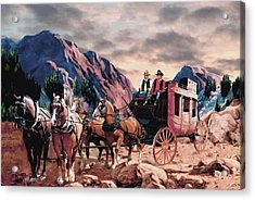 Overland Trail Acrylic Print by Ron Chambers