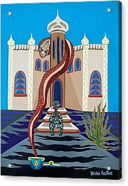 Overlooked By Poisonous Terror Acrylic Print by Deidre Firestone
