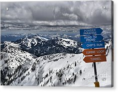 Overlooking Mineral Basin Acrylic Print by Adam Jewell