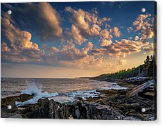 Overlooking Muscongus Bay Acrylic Print by Rick Berk