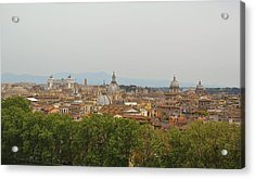 Overlooking Rome Acrylic Print by JAMART Photography