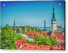 Overlooking Tallinn Acrylic Print