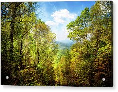 Overlooking The Blue Ridge Mountains Acrylic Print
