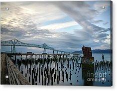 Overlooking The Bridge Acrylic Print
