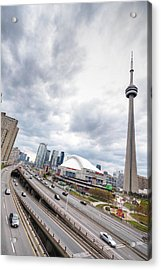 Acrylic Print featuring the photograph Overlooking The Expressway by Anthony Rego