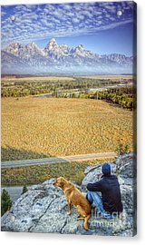 Overlooking The Grand Tetons Jackson Hole Acrylic Print by Dustin K Ryan