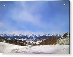 Overlooking The Mountains Of Colorado Landscape Art By Jai Johnson Acrylic Print by Jai Johnson