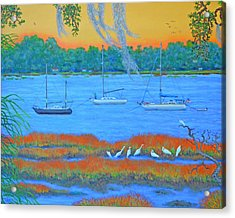 Overnight In Beaufort Acrylic Print