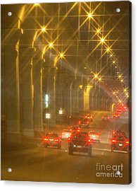 Acrylic Print featuring the photograph Overpass Traffic by Linda Phelps