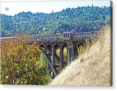 Overpass Underpinnings Acrylic Print by Adria Trail