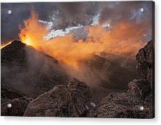 Overwhelmed Acrylic Print by Morris  McClung