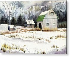 Acrylic Print featuring the painting Owen County Winter by Katherine Miller