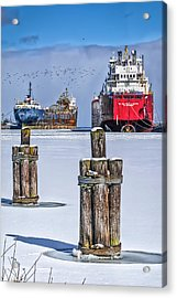 Owen Sound Winter Harbour Study #4 Acrylic Print