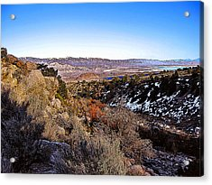 Acrylic Print featuring the painting Owens Lake Winter by Larry Darnell