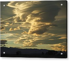 Owens Valley Evening Acrylic Print by Alpha Pup