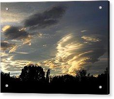Owens Valley Sunset 2 Acrylic Print by Lea Belgarde