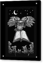 Owl And Friends Blackwhite Acrylic Print