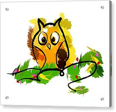 Cute Owl  Acrylic Print by Prar Kulasekara