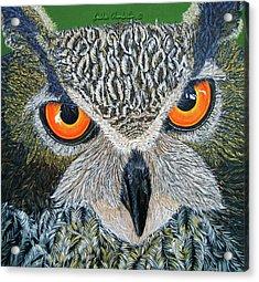 Owl Capone Acrylic Print
