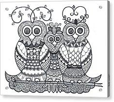 Owl Family Acrylic Print