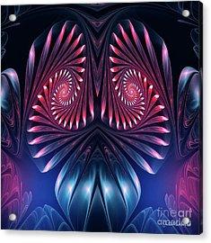 Acrylic Print featuring the digital art Owl by Jutta Maria Pusl