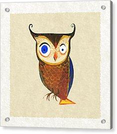 Owl Acrylic Print by Kristina Vardazaryan