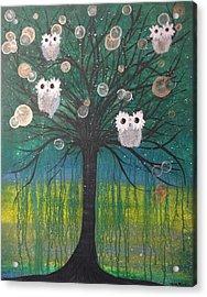 Owl Tree Of Life #378 Acrylic Print
