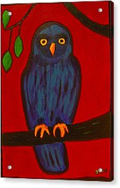 Acrylic Print featuring the painting Owl Uggla by Zeke Nord
