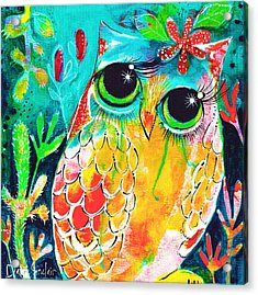 Owlette Acrylic Print by DAKRI Sinclair