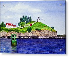 Owls Head Lighthouse Acrylic Print by Mike Robles