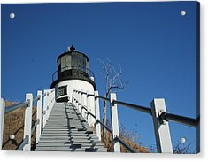 Owls Head Lighthouse Winter Acrylic Print