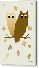 Owls Pattern Art Acrylic Print by Christina Rollo