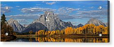 Oxbow Bend In Autumn Acrylic Print by Andrew Wells