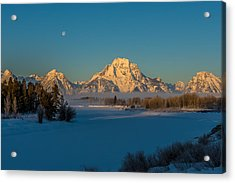 Oxbow Bend In Late Winter Acrylic Print by Yeates Photography