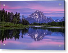 Oxbow Morning Acrylic Print by Andrew Soundarajan