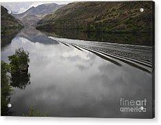 Oxbow Reservoir Wake Acrylic Print by Idaho Scenic Images Linda Lantzy