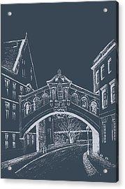 Acrylic Print featuring the digital art Oxford At Night by Elizabeth Lock