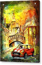 Oxford Authentic Madness Acrylic Print by Miki De Goodaboom